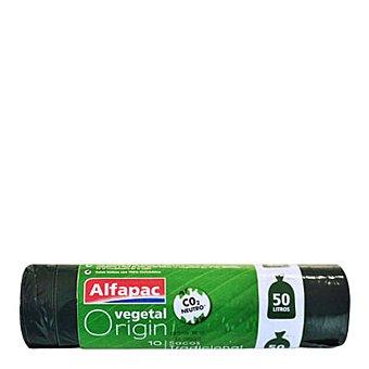 ALFAPAC Bolsa de basura verde 50l 10 ud