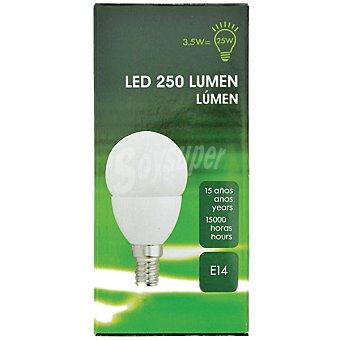 3.5 W (25 W) lámpara LED luz cálida casquillo E14 (fino)