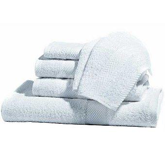 CASACTUAL Araceli set 2 toallas de tocador lisas de rizo americano en color blanco