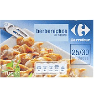 Carrefour Berberechos al natural gigantes 25/30 115 g