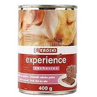 Eroski Paté de cordero para cachorro Lata 400 g