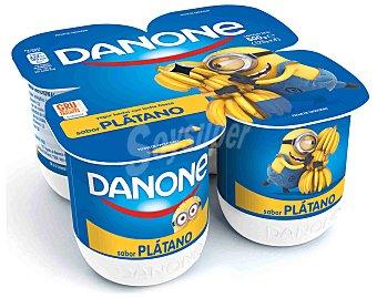 Danone Yogur Sabor Plátano Pack 4 x 125 g