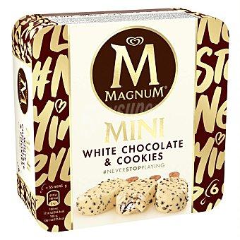 Magnum Frigo Mini helado de chocolate blanco con trocitos de cookies 6 x 45 g