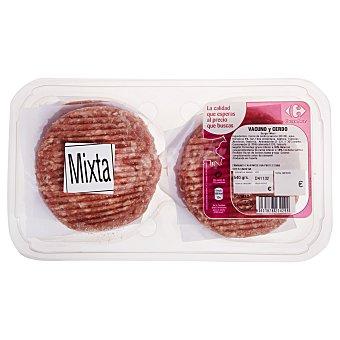 Carrefour Hamburguesa mixta (vacuno y cerdo) 6x90 g