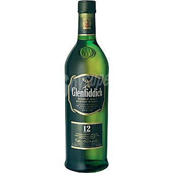 Glenfiddich Whisky escocés 12 años botella 1 l 1 l