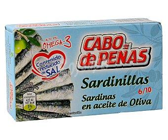 Cabo de Peñas Sardinillas en aceite de oliva 6-10 piezas Lata 60 g (peso neto escurrido)