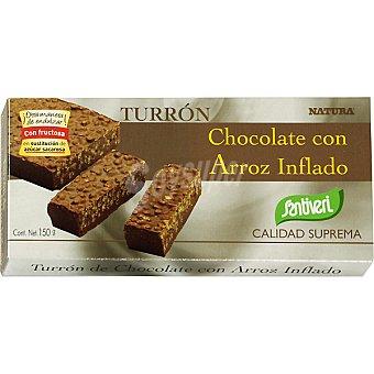 Santiveri Turrón de chocolate con arroz inflado Estuche 150 g