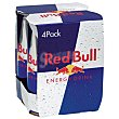 Bebida energética Pack 4x25 cl Red Bull