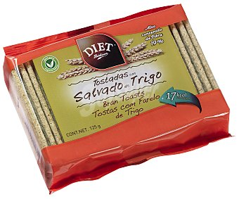 Diet Rádisson Tostadas con salvado de trigo 125 gramos