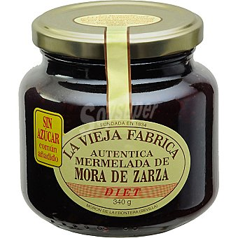 LA VIEJA FABRICA mermelada de mora de zarza sin azúcar frasco 340 g