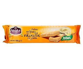 Santiveri Noglut Galletas barquillo rellena con vainilla, sin gluten 150 gr