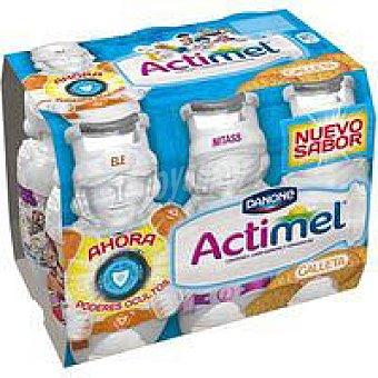 Danone Actimel sabor galleta Pack 6x100 ml