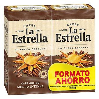 La Estrella Café molido mezcla intenso mitad natural mitad torrefacto formato ahorro 500 G 2 x 250 g
