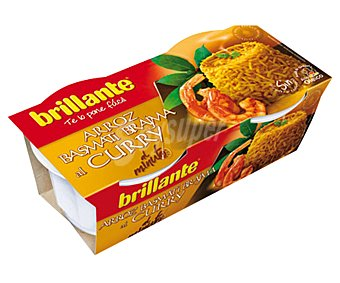 Brillante Arroz basmati Brajma al curry 2 unidades de 125 gramos