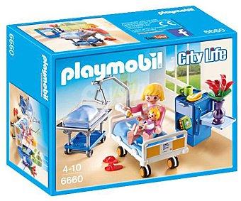 Playmobil Escenario de juego Sala de maternidad con figuras y accesorios, City Life 6660 playmobil