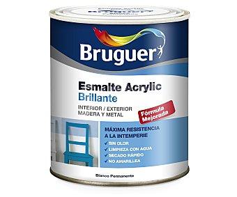 BRUGUER Esmalte Decorativo Acrílico Brillante, Color Rojo Bermellón 0,75 Litros
