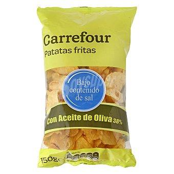 Carrefour Patatas fritas con aceite de oliva muy bajas en sal 150 g