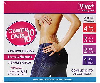 Vive+ Cuerpo 10 control de peso Caja 30 u