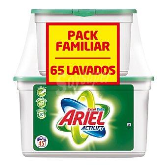Ariel Detergente lavadora Excel Tabs cápsulas 65 ud