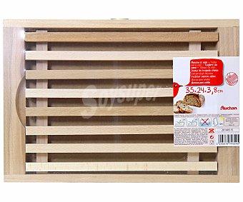 Auchan Tabla de madera para cortar pan, 35x24x3,8 centímetros 1 Unidad