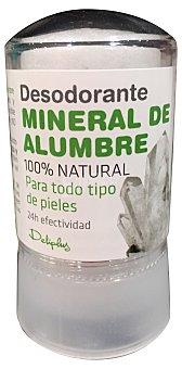 DELIPLUS Desodorante stick mineral de alumbre todo tipo de pieles  Bote de 60 g