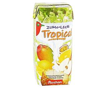 Auchan Leche con Zumo de Frutas Tropical 333g