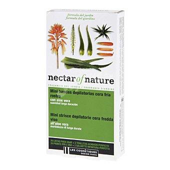 Les Cosmétiques Mini de bandas depilatorias cera fría rostro - Nectar of Nature 20 ud