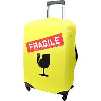 ORALLI Funda para maleta grande en color amarillo fragile