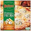 Pizza 4 quesos con emmental mozzarella gorgonzola y queso curado  estuche 350 g Buitoni Forno Di Pietra