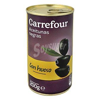 Carrefour Aceituna negra entera 200 g