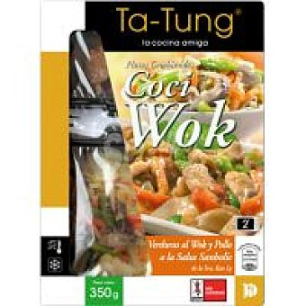 Ta Tung Wok de verduras con pollo Bandeja 350 g