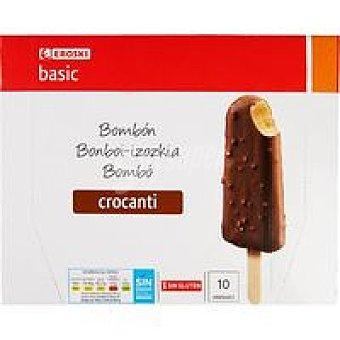 Eroski Basic Bombón crocanti Pack 10x75 ml