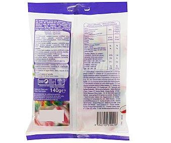 Auchan Caramelos con sabores a frutas y edulcorantes 140 gramos