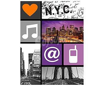 IMAGINE Cuadro con diferentes imágenes típicas de la ciudad de Nueva York y dimensiones de 60x80 centímetros 1 unidad