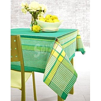 CASACTUAL Dublín 8264 mantel jacquard rectangular en color verde 150 x 200 cm