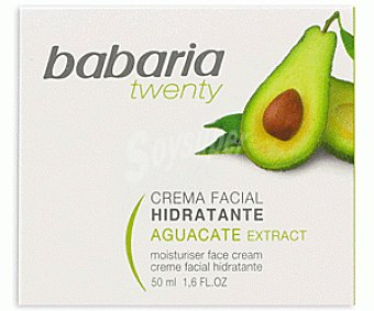 Babaria Crema Facial Hidratante Aguacate Twenty 50 Mililitros