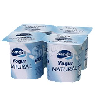 Sandra Yogur natural ds. 125 g Pack 4 un