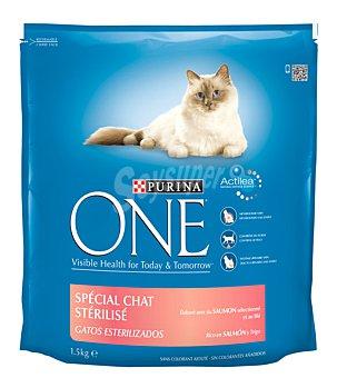 One Purina  Comida gatos esterilizados  paquete 1,5 kg