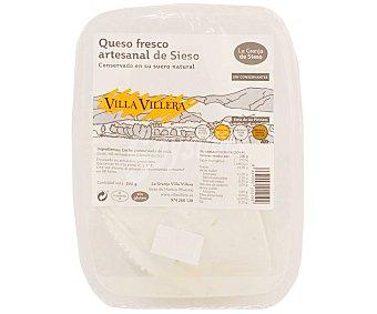 Villa Villera Queso fresco artesanal bajo en sal, sin gluten 200 g
