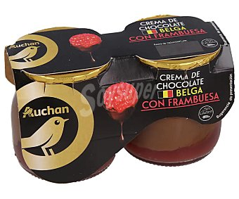 ALCAMPO GOURMET Crema de chocolate belga con framubesa, elaborada sin gluten 2 x 125 g