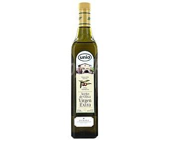 Cristal Aceite oliva virgen extra con denominación de origen Siurana unio botella cristal 750 ml. Botella 750 ml