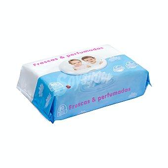 Deliplus Toallitas humedas bebé frescas y perfumadas con aloe vera Paquete 80 u