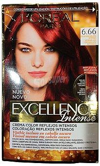 Excellence L'Oréal Paris Intense tinte Rojo Escarlata Intenso nº 6.66 caja 1 unidad crema color multi-reflejos intensos Caja 1 unidad