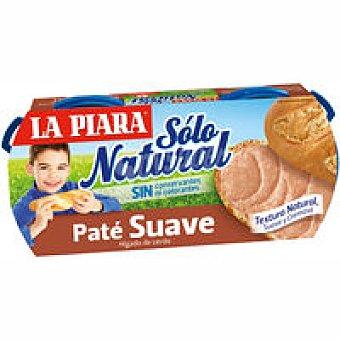 LA PIARA Sólo Natural Paté suave Pack 2x75 g