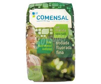 COMENSAL Sal marina, yodada, fluorada y fina 1 kilogramo