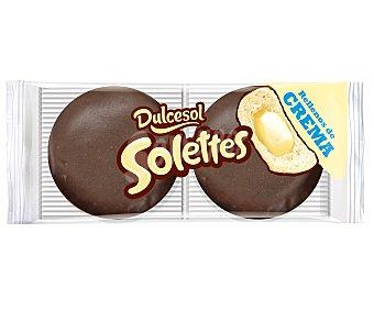 Dulcesol Berlinas rellenas de crema y bañadas de chocolate Pack de 4 unidades de 200 gramos