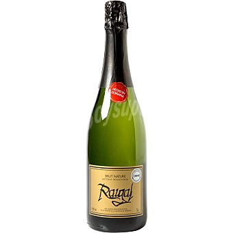 RAIGAL Vino espumoso brut nature zalema 100% botella 75 cl Botella 75 cl