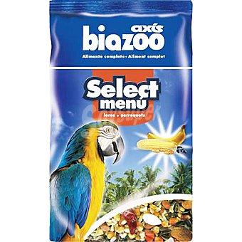 BIOZOO AXIS SELECT MENU Alimento completo para loros Paquete 1 kg