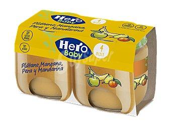 Hero Potito de plátano-mandarina-pera Pack 2 x 120 g