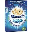 Intense toallitas perfumadoras para lavadoras frescor matutino caja 20 unidades caja 20 unidades Mimosín